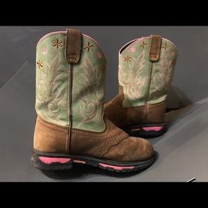 John Deere green & brown boots